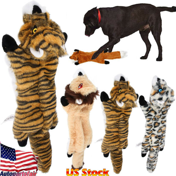 US Pet Dog Cat Puppy Plush Squeaky Toy Soft Sound Chew Squeaker Cute Washable