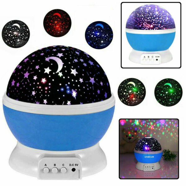 TOYS FOR 2 10 Year Old Kids LED Night Light Star Moon Constellation Xmas Gift $13.33