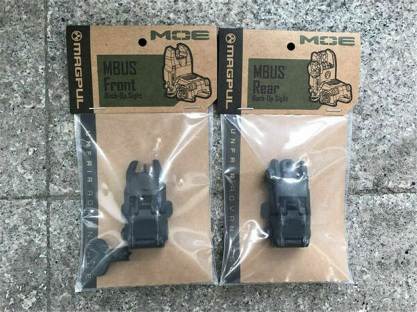 New MAG247 MAG248 Magpul MBUS Gen2 Front and Rear Flip Sights Set
