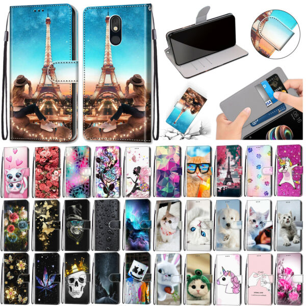 For LG Stylo 5 Stylo 4 K10 K9 K8 PU Leather Wallet Phone Case Cover Flip Stand $8.59