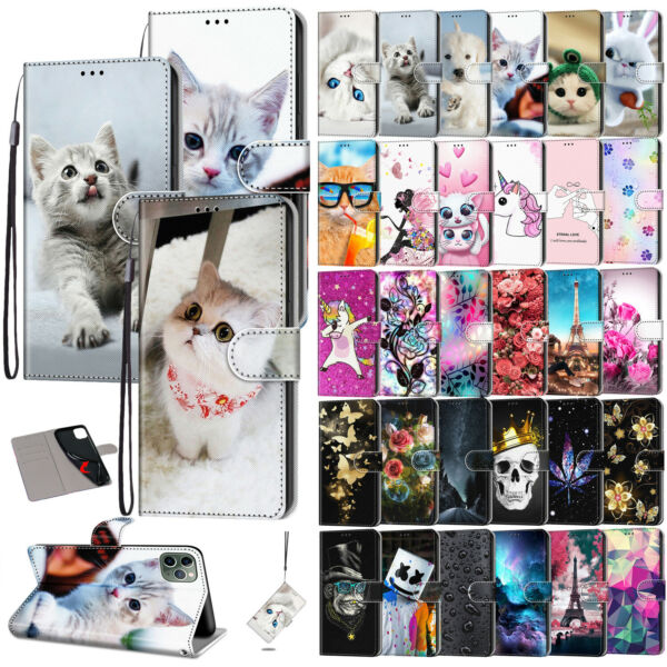 For iPhone XS Max XR 8 7 6 11 Pro Max Flip Leather Card Pocket Wallet Case Cover $8.59