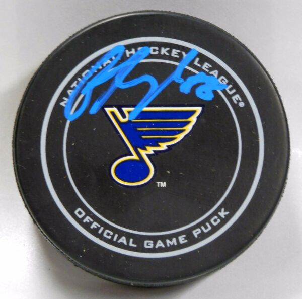 COLTON PARAYKO Signed ST LOUIS BLUES OFFICIAL HOCKEY PUCK! AUTOGRAPH! 1005894