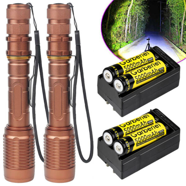 Super Bright Tactical 990000Lumen T6 LED Flashlight Torch 5 Modes Focus Zoomable