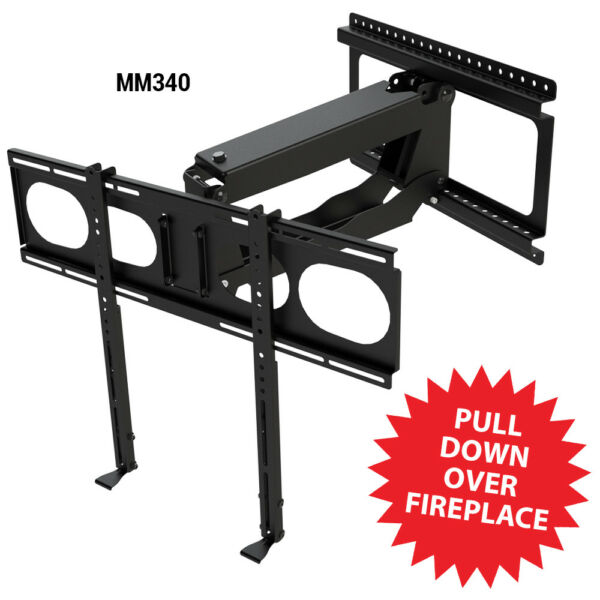 Refurbished MantelMount MM340 Pull Down Fireplace TV Mount For 44