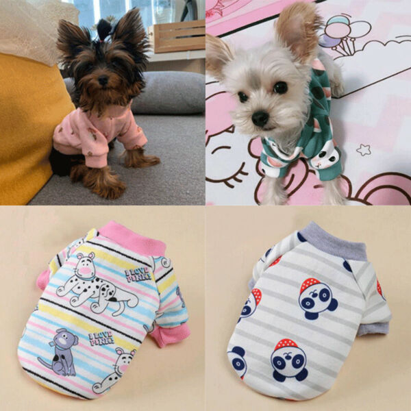 Dog Clothes Winter Hoodie Chihuahua Clothes Dog Clothing for Puppy Yorkie Coat $3.27