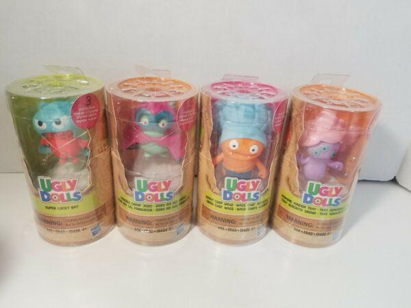 Ugly Dolls Surprise Tubes Figures Lucky- Chef- Champ- Mermaid- Bat Lot Set Of 4