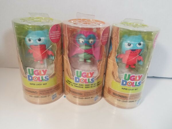 Ugly Dolls Surprise Tubes Figures 2 Lucky Bats- Champ- Lot Set Of 3 New