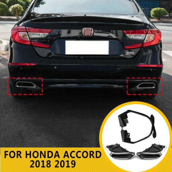 Exhaust Muffler Tail Pipe Tip Tailpipe Modified Upgrade Fit Honda Accord 2018-20