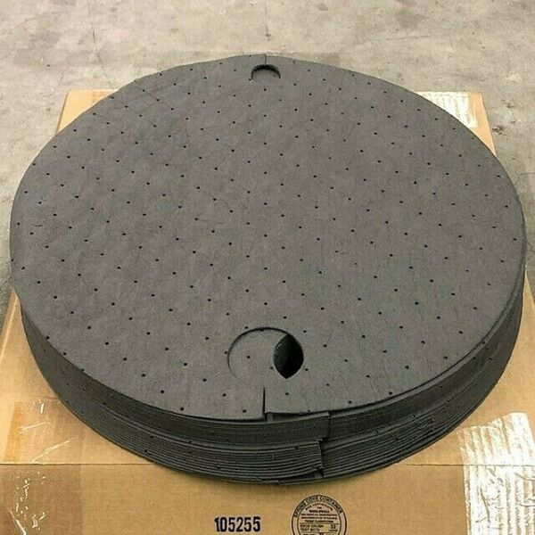 25pk Drum 55 Barrel Top Pads Absorbent Pad 22quot; Oil Water Solvent Coolant Spill $56.99
