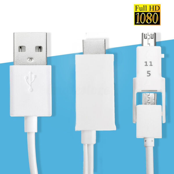 5Pin&11Pin MHL Micro USB To HDMI HD1080P TV Cable-Adapter For Android Cell Phone