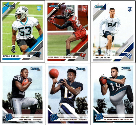 2019 Donruss Football - Rookies and Rated Rookie RC's - Choose Card #'s 251-350