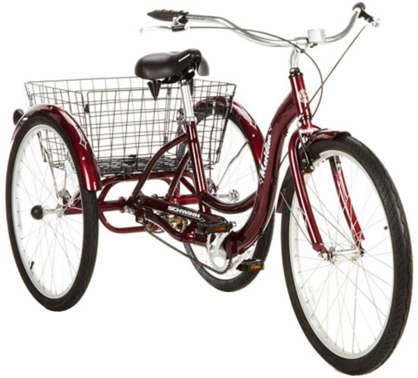 Adult Tricycle Schwinn 3 Wheel Commuting Bike Trike 26quot; 1 Speed Easy Ride Red $535.99