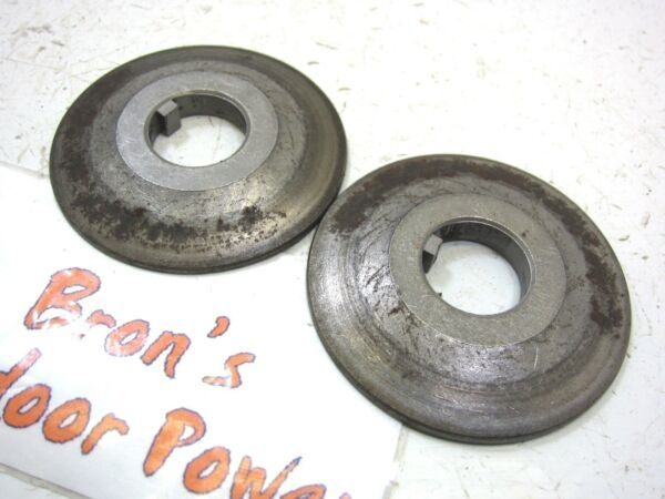 Craftsman Snow blower thrower by MTD Engine PTO drive half pulley sheave 2pc Set