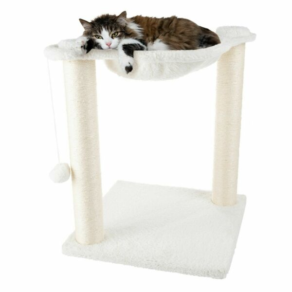 Cat Tree Scratcher Kitten Pet Bed Hammock Style Lounging Top Hanging Toy $28.99