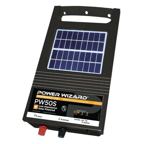 Power Wizard PW50S Solar Fence Energizer  3 year manufacturer warranty