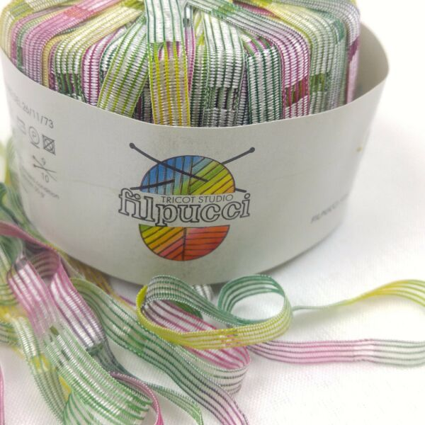 Rainbow Colored Ribbon Filpucci Italy Trim Sewing Crafting Needle Crafts Mina
