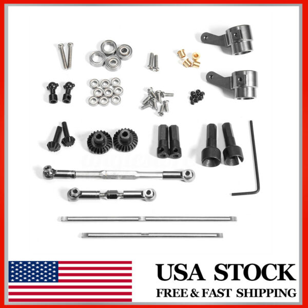DIY Upgrade Metal Front Rear Axle Gear Set For WPL 116 RC Military Truck Car US