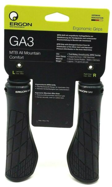 Ergon GA3 Ergo Lock-On Handlebar Bike Grips for MTB Trail Riding All Mountain