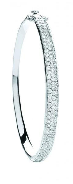 Diamond Bangle White Gold Premium Diamond 3.15 Carat Diamond Bangle Certificated