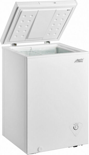 3.5 Cu Ft Deep Compact Freezer Storage Chest Upright Home Adjustable Thermostat