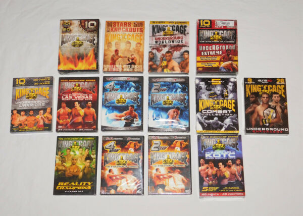 KOTC Lot of 14 King of the Cage DVD Box Sets - 80 Entire MMA Fighting Events NEW