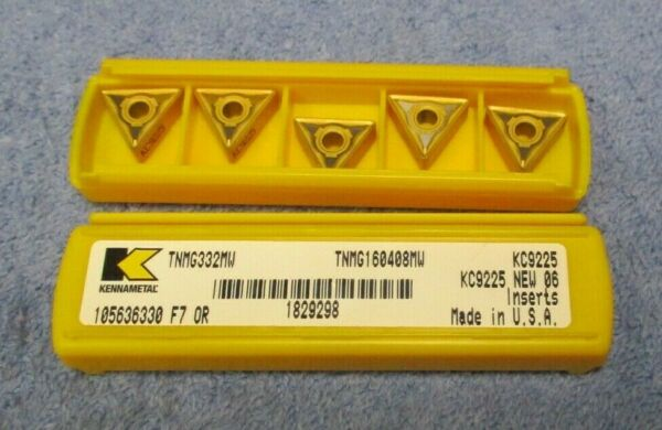 KENNAMETAL   Carbide  Inserts   TNMG 332 MW    Grade KC9225    Pack of  5