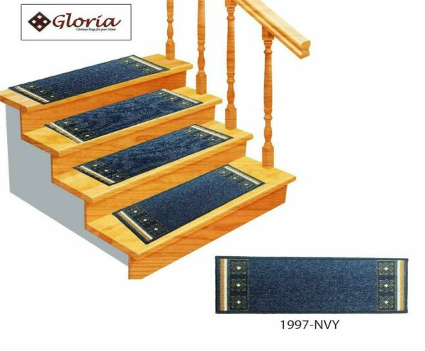 Set of 14 Non Slip Carpet Stair Treads 8.5quot; x 26quot; Stair Mat Rugs for Stairs