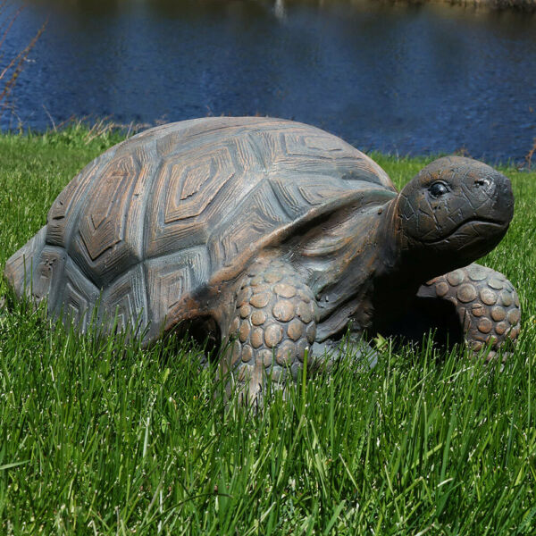 Sunnydaze Tanya the Tortoise Indoor Outdoor Large Lawn and Garden Statue 20quot; $99.95