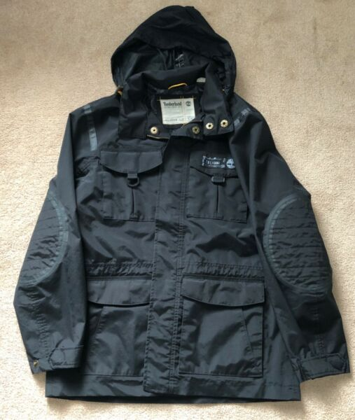 Timberland Relax Fit Jacket Black Men's Size LARGE $42.88