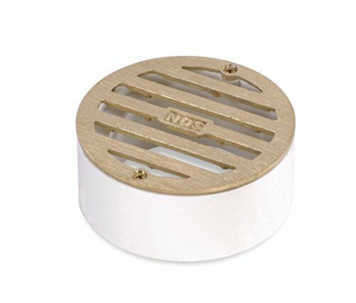 NDS 909B 3quot; ROUND GRATE SATIN BRASS