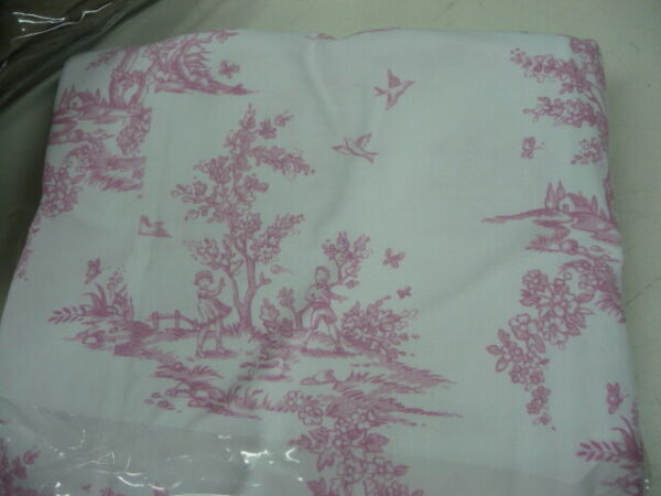 Pottery Barn Lewis Isabelle headboard slipcover Pink Toile Queen $79.00