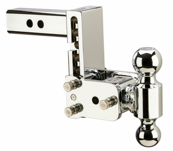 Bamp;W Tow amp; Stow Adjustable Trailer Hitch Ball Mount Chrome TS10037C