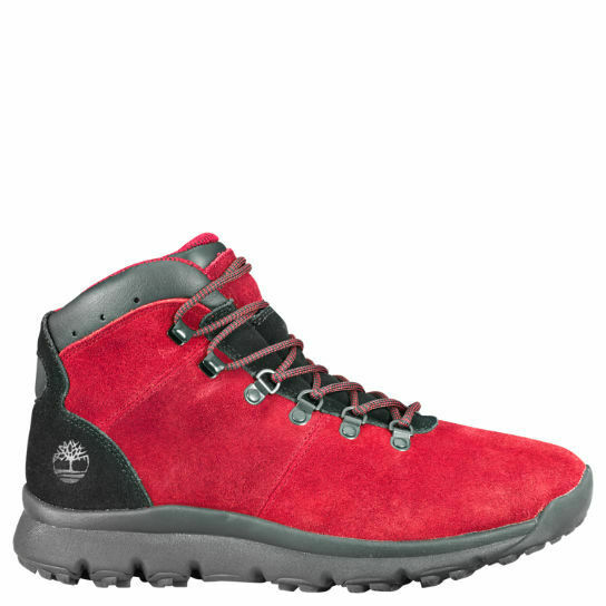 Timberland Men's World Hiker Mid Boot – Red $81.00