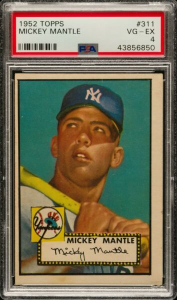🌟1952 Topps #311 Mickey Mantle PSA 4🌟VERY BOLD COLOR~GOOD EYE APPEAL~RARE FIND