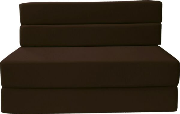 Full Size Folding Foam Mattresses Sofa Beds Chairs Couches Ottoman Brown