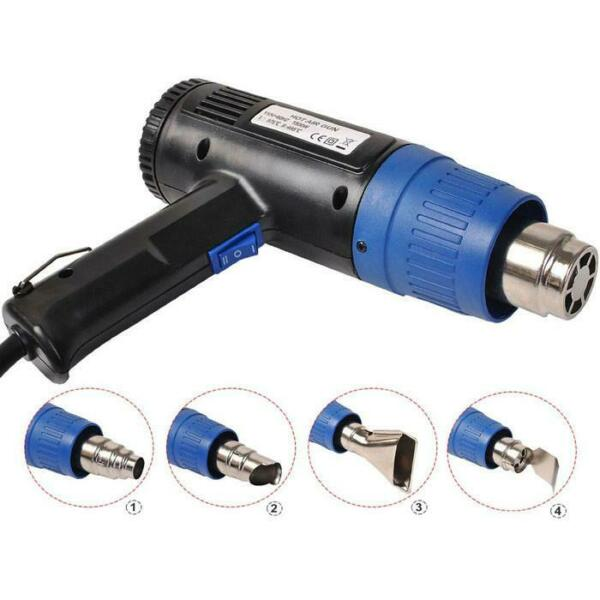 Heat Gun Hot Air Gun Dual Temperature 4 Nozzles Tool 1500 Watt $22.99