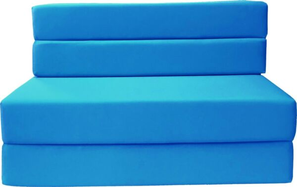 Full Size Folding Foam Mattresses Sofa Beds Chairs Couches Ottoman Turquoise