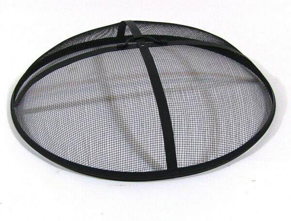 Round Outdoor Fire Pit Metal Screen