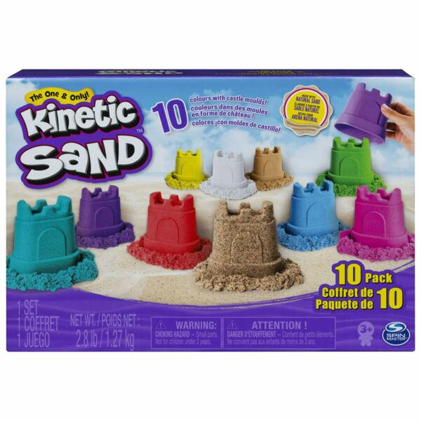 Kinetic Sand Castle Containers 10-Color Pack for Kids Aged 3 and Up Multicolor