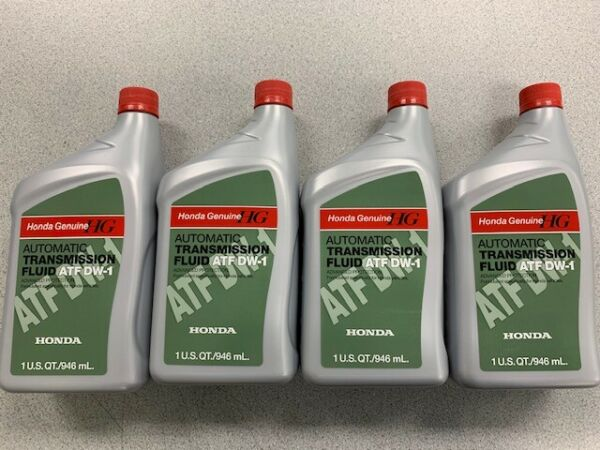 4 QUARTS HONDA ATF DW 1 Automatic Transmission Fluid Genuine 08200 9008