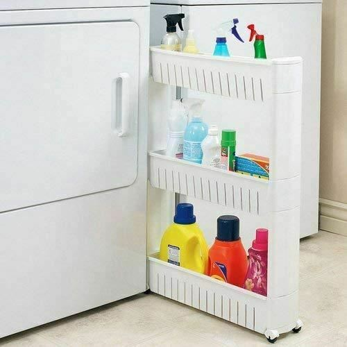 Rolling Laundry Organizer Pantry Shelf Rack Cart
