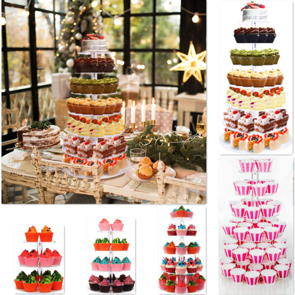 Cake Stand 3 4 5 6 7 Tier Cupcake Stand Acrylic Round for Wedding Birthday Party