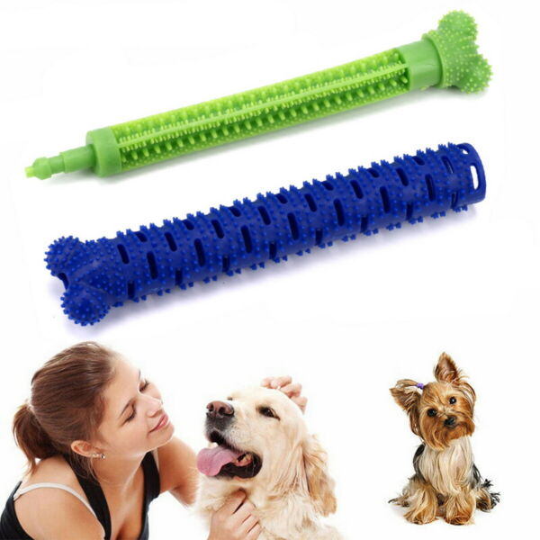 Dog Toothbrush Stick Dog Teeth Cleaning Chew Toys Pet Oral Dental Care Cleaner $7.99