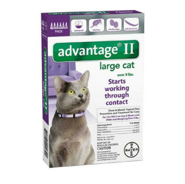 Advantage II For Cats Over 9 lbs 6 Pack - EPA Approved  NEW  FREE Shipping!