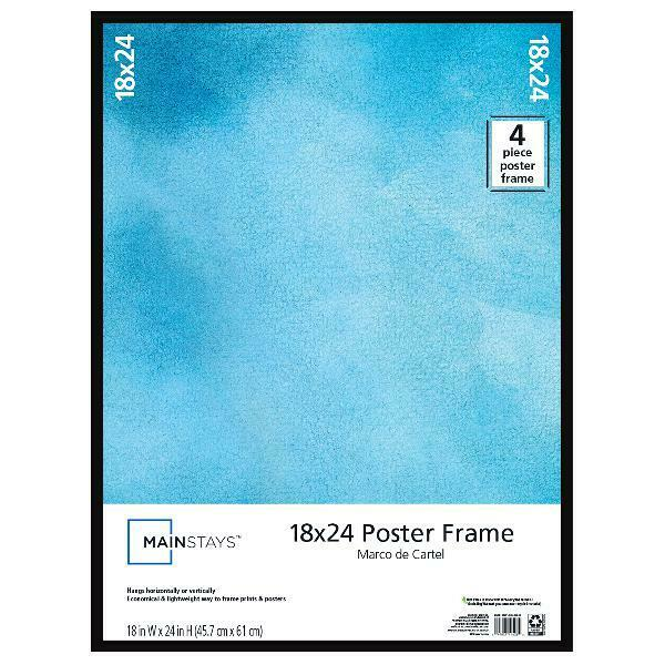 Thin Poster and Picture Frame Mainstays 18x24 Black