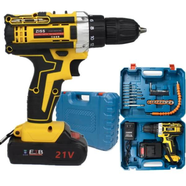 21V Cordless Drill Electric Screwdriver 30pcs Drill Driver KitBatteryamp;Charger $39.98