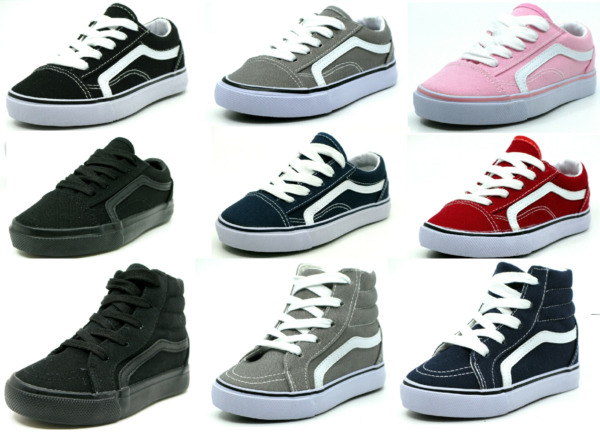 New Lace Up Low Top And Hi Top Baby Toddler Boy Or Girl Canvas Shoes Size 5 11 $16.95