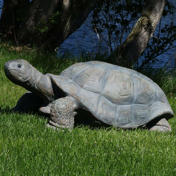Sunnydaze Todd the Tortoise Indoor Outdoor Large Lawn and Garden Statue 30quot; $159.00