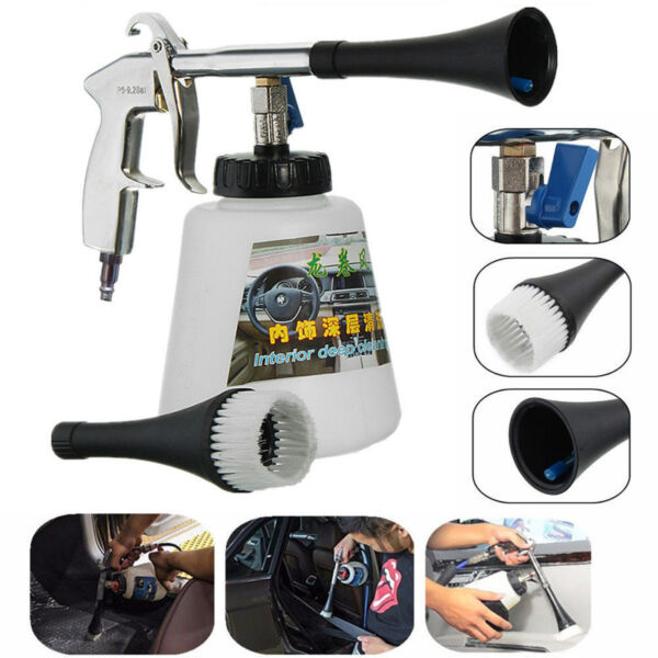 Tornado Car Cleaning Gun Kit With 2 Nozzles High Pressure Auto Interior Washer