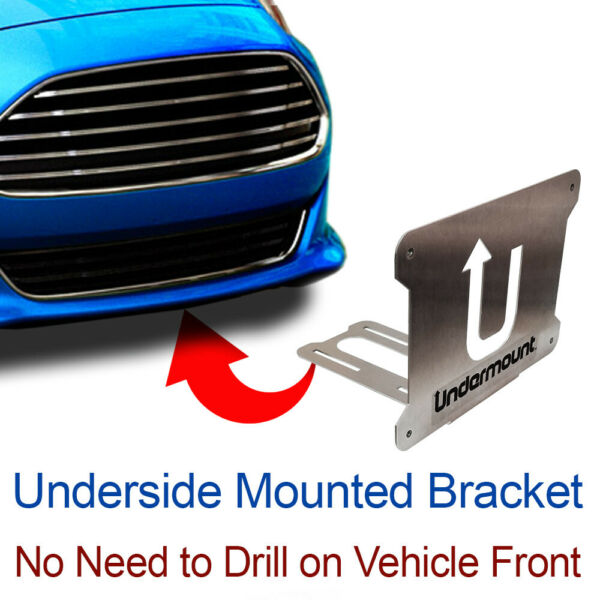 UNDER MOUNT LICENSE PLATE BRACKET tag frame mounting holder no drill front FOR $19.95